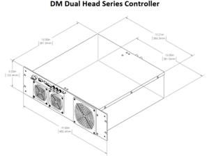 DM デュアルヘッド コントローラ 外形寸法