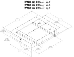 DM デュアルヘッド高出力タイプ 外形寸法