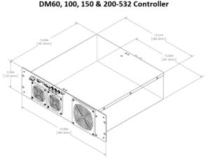 DM-532 コントローラ外形寸法